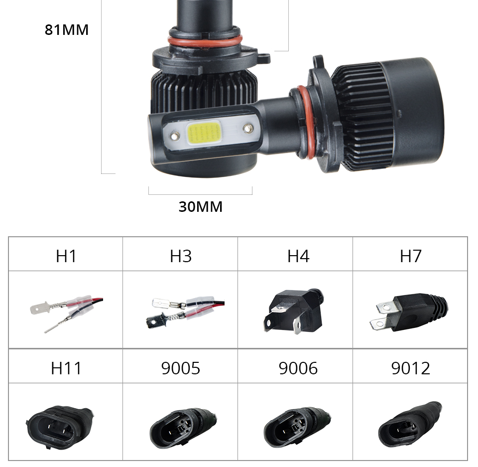 Aceersun H7 H4 LED Bulb Car Headllight H4 H1 H11 9005 72W mini cob chip 12V 24V Auto Headlamp Lamps 8000LM 6500K 4300K Fog Light (21)
