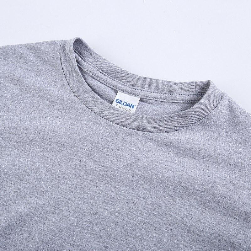 GILDAN Cartoon Print Short Sleeve T Shirt Free Shipping Men's Bjork Logo T Shirts White