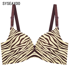 A chip non-trace zebra small breast bra gather together comfortable bra sexy smooth lingerie
