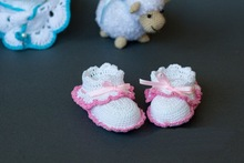 freeshipping, Crochet baby booties  Baby girl crochet booties Hand made crochet booties 0-12 month baby, crochet baby shoes