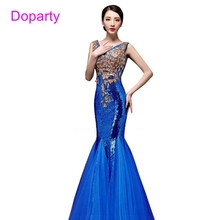 Long Royal Blue Sequin Red Mermaid Dubai Sweetheart Elegant Party Floor Length Evening Dresses 2017 New Arrival Formal Dresses