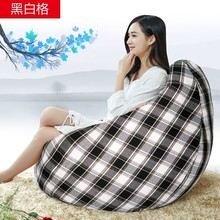 Ywxuege Living Room Black And White Grid Sofas Bean Bag Sofa Linen Cotton Soft Sofa Bed Suit For Bed