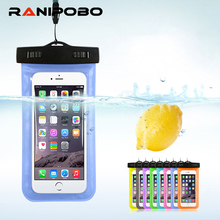 "For Universal 4.8""-6.0"" Waterproof Phone Bags Pouch for iPhone 6 7 7 plus Case Dry Cover Cases for Xiaomi for Samsung(China)"