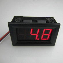 DC Mini Digital Voltmeter DC 0-100V RED LED Slim Digital Panel Meter with Ear Car Motorcycle Battery Monitor Voltmeter #0001