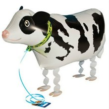 Free Shipping 1Pcs/Lot Cow Pet Helium Walking Balloon Baby Shower Foil Balloons Party/Birthday/Wedding Decorations Toy Kids Gift(China)