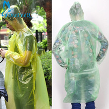 1Pcs Disposable Raincoat Adult Emergency Waterproof Hood Poncho Travel Camping Must Rain Coat Unisex