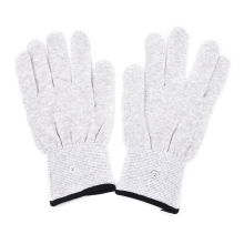 1Pair Magic Pulse Massage Gloves Silver Fiber Conductive Electrotherapy Massage Electrode Gloves Use For Tens Machine Hot Sale