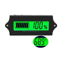 12V LCD Acid Lead Lithium Battery Capacity Indicator Digital Voltmeter Tester Electronic Device Tools Drop Ship