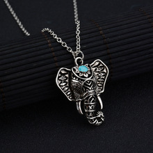 Vintage Bohemian Elephant Necklaces & Pendants Short Clavicle Chain Bib Collar Choker Collier Femme Ethnic jewelry