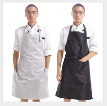 High Quality PVC Waterproof Aprons Adjustable Sleeveless Cooking Work Aprons Kitchen Apron Schort Chef Apron(China)