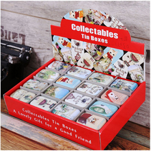 32 Piece/lot Vintage Small Tin Box Candy Coin Headset Metal Storage Box Cat Print Organizer Case  Mix Pack 026-3