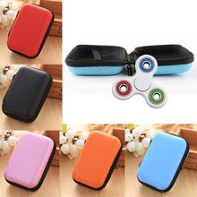 Gift For Fidget Hand Spinner Triangle Finger Toy Focus ADHD Autism Data Earphone Cable Earphone Headphone Bag Box
