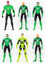 10cm 6pcs/lot original anime figure the avenger Green Lantern action figure set collectible model toys for boys