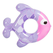 Inflatable Lap Swimming Pool Equipment Baby Swim Float Rubber Ring Fish Shape Lifebuoy Baby Care Swimming Learning Accessories(China)