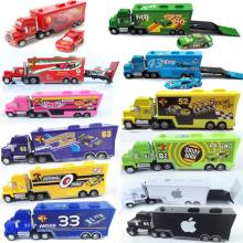 Pixar Cars2 Lightning McQueen Alloy Metal Toy Car For Children 1:55 The King Sally Mater Fillmore FLo No.95 43 86 Kids gift
