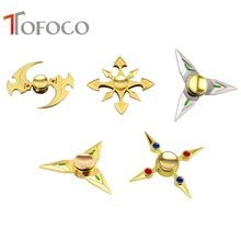 TOFOCO Hand Spinner Fidget Spinner Stress Cube Brass Amine Hand Spinners Focus KeepToy and ADHD EDC Anti Stress Toys