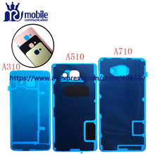 Best quality A3 A5 A7 Battery Glass Cover Housing For Samsung Galaxy A3 A310 A5 A510 A7 A710 2016 Back cover with Adhesive