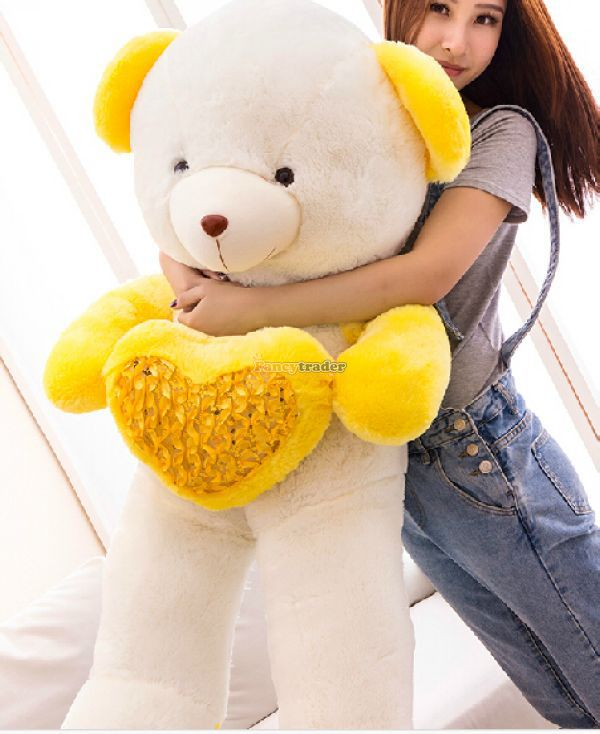Fancytrader 47 / 120cm Lovely Plush Jumbo Heart Bear Toy, Best Gift and Decoration, 4 Colors Available Free Shipping FT50056<br><br>Aliexpress