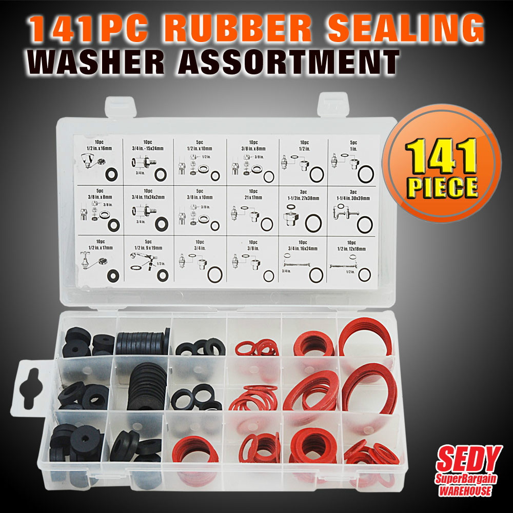 New 141 PC Rubber Sealing Washer Assortment Professional Industry Tool SDY-19002<br><br>Aliexpress