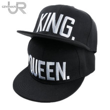 Hot Sale KING QUEEN Embroidery Snapback Hat Acrylic Men Women Couple Baseball Cap Gifts Fashion Hip-hop Caps(China)