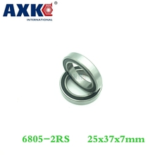 Buy Axk, 10pcs Rubber Sealing Cover Thin Wall Deep Groove Ball Bearings 61805-2rs 25*37*7 Mm for $12.58 in AliExpress store