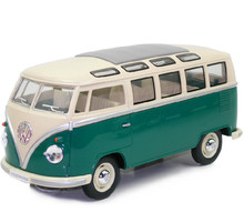 KINGSMART 1962 Volkswagen 1:24 Scale Diecast Bus Toys Onibus, Door Openable Alloy Model Car Toy For Children