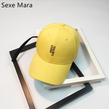 Letter 2017 New Spring yellow Cute  Girls Youth Baseball Cap Hat Summer Lovely Pink Orange black Caps adjustble hats gift hinkin