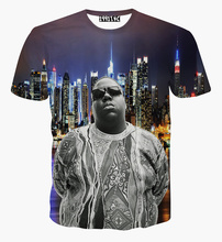 Women/Men Christopher G. L. Wallace T-Shirt Biggie Smalls tee 3D Summer Frank White tees Notorious B.I.G. t shirts Fashion Tops(China)