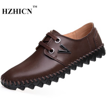 Buy Handmade Luxury Casual Oxfords New Genuine Leather Shoes Soft Comfortable Non-slip Flats Zapatos Hombre Sapato Masculino for $25.73 in AliExpress store