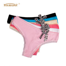 Buy YOUREGINA Woman Underwear Cotton Panties Sexy Strings Tanga Femme G String Sexy Women Ladies Thongs Tangas Mujer 6pcs/lot