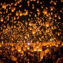 Chinese Paper Sky Flying Wishing Lantern Lamp Designing for Party Wedding worldwide store(China)