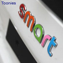 3D Smart 453 Fortwo Car Sticker Auto Logo Tail Stickers Styling Lable Decal Automobiles Film Decoration Accessories 2015 Model(China)