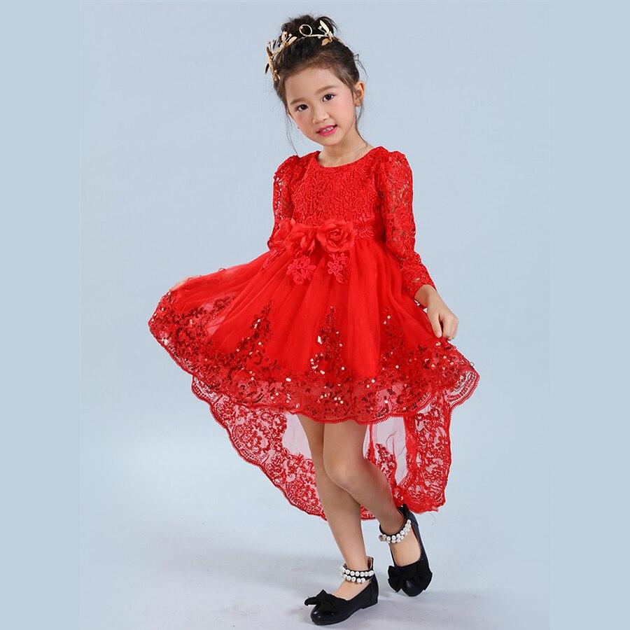 Baby Girls Party Dress 2017 Elegant Girl Long Evening Dress For Christening Wedding Kids Dresses For Teen Girls Clothes TZ-8<br><br>Aliexpress