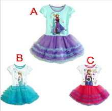 Brand original,Anna and else dress,new 2015,girl party dress,summer, Princess dress,kids girl  clothes,tutu
