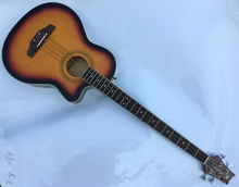 5 string ELECTRO acoustic bass guitar with free case free string free strap free shipping(China)