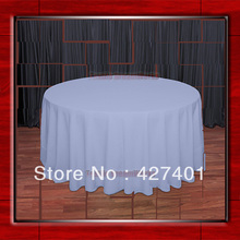 "Hot Sale 120""R Powder Blue 210GSM Polyester plain Table Cloth For Wedding Events & Party Decoration(Supplier)(China)"