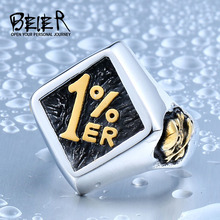Beier new store 316L Stainless Steel ring top quality personality new design 1%  Motorcycle Ring fashion Jewelry LLBR8-243R