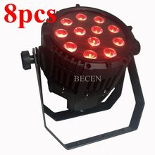 8pcs outdoor led par 12x15w led par rgbwa rojector waterproof par can