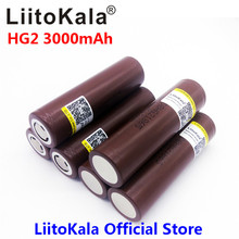LiitoKala for  HG2 18650 18650 3000mah electronic cigarette Rechargeable battery power high discharge,30A large current(China)