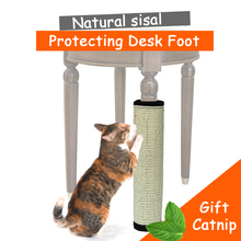 Natural sisal cat scratching post toy for cats catnip tower climbing tree Cat Scratch Pad board Protecting furniture Foot