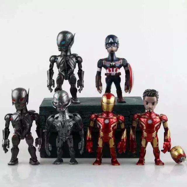 Avengers 1pcs/set PVC Figure Captain America Iron Man Marvel Doraemon Cute Mini Toys Action Anime Figures Kids Gifts Toys 1262<br><br>Aliexpress