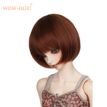 Short Straight Wig For 1/3 1/4 1/6 BJD Dolls,Cute Girl Sexy Neat Bangs High Quality Fashion BJD/SD Hair Wig Doll Accessories(China)
