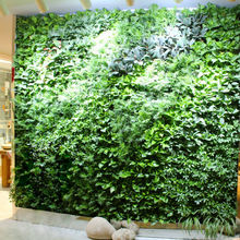 2017 New artificial green grass wall background decoration home market hotel shop decorative plant wall