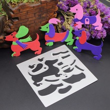 Embossing Die Cut 100*100mm Metal Dog Metal Cutting Die Stencils DIY Scrapbooking Card Album Photo Painting Metal Craft