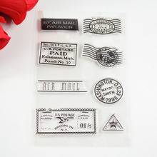 Postmark By air Post stamps Eco-friendly Transparent Stamp For DIY Scrapbooking/Card Making/ Decoration Supplies