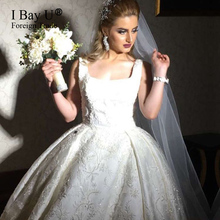 Luxury Wedding Dress 2017 Stunning Ball Gown Train High Quality Vintage Lace Wedding Gowns Tulle Vestido De Noiva Princesa Luxo