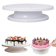 Rotating Revolving Plate Decorating Cake Turntable Kitchen Display Stand 11 Cake Swivel Plate Revolving Decoration Stand Platfor(China)