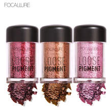 FOCALLURE New 12 Colors Makeup Loose Pigment Eye Shadows Powder Gold Red Metallic Focallure Loose Glitter Eyeshadow(China)