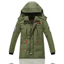 -30 Degree Childrens Jackets for Boys Cotton-padded Warm Winter Boys Down Coat Thickening Hooded Kids Outerwear 6-15 Year
