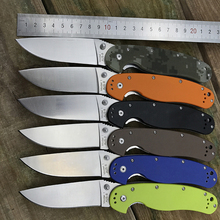 camping hunting survival tactical knife aus-8 brand folding knife thumb cool pocket knives G10 handle combat rescue EDC tools(China)